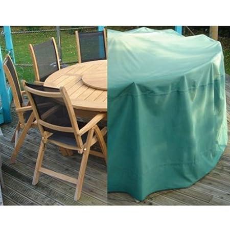 Housse de protection PVC pour table ronde de jardin OSE - Vert ...