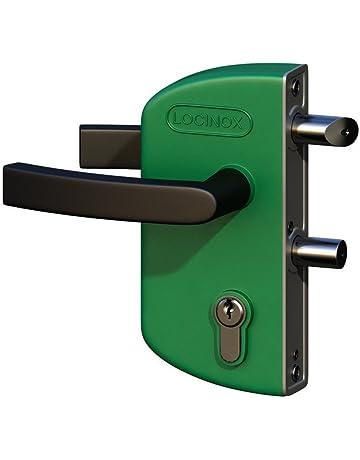 LOCINOX Verde LAKZ P1 Cerradura económica para puertas de jardín con carcasa de poliamida y mecanismo