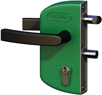 LOCINOX Verde LAKZ P1 Cerradura económica para puertas de jardín con carcasa de poliamida y mecanismo de acero inoxidable.: Amazon.es: Bricolaje y herramientas