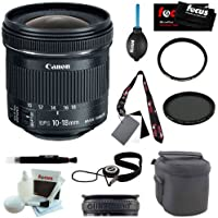 Canon EF-S 10-18mm f/4.5-5.6 IS STM Lens + 67mm UV Protector + Tiffen 67mm Ci...