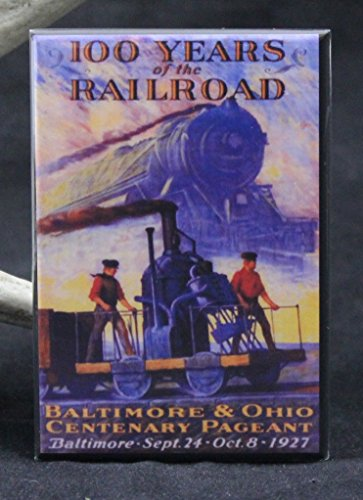 - Baltimore & Ohio Railroad Vintage Poster Refrigerator Magnet.