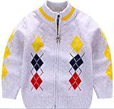 Product review for AUIE SAOSA Little Boys Spring and Autumn Stripe Knitted Cotton Coat zipper Cardigan Sweater
