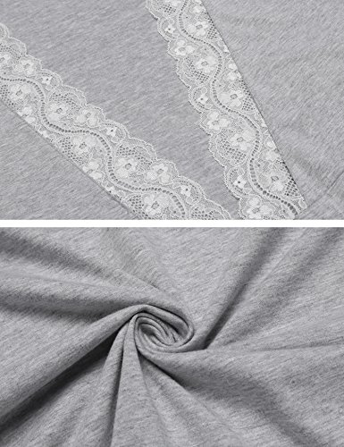 Da Donna Lomon Pigiama Camicia Allattamento Grigio Notte Chiaro 1 Premaman stile Vestito Per qqEgS