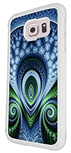 1216 - Shabby Chic Peacock Feathers Art Love Heart Design For Samsung Galaxy S6 Edge Plus + Fashion Trend CASE Back COVER Plastic&Thin Metal - White