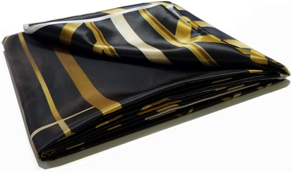 FiVan 7x5ft Waterproof Polyester Photography Backdrops Adults Children Birthday Party Banner Black and Gold Stripes Glitter Glamour Sparkle Photo Studio Booth Background W-449