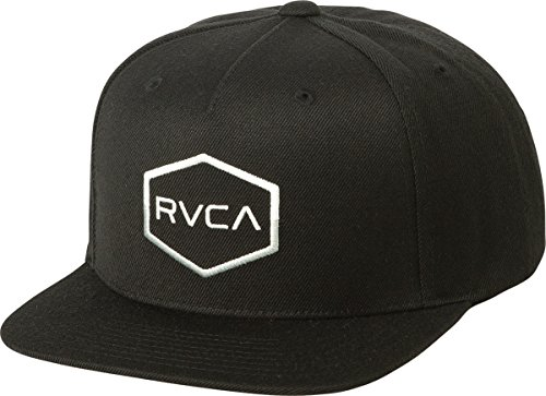 Elite Embroidered Hat - RVCA Men's Commonwealth Snapback Hat, Black, EA