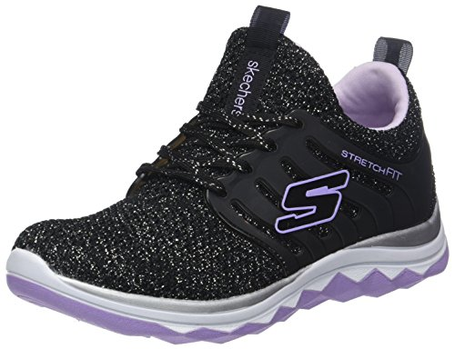 Diamond Runner-Sparkle Sprint Sneaker, BKLV, 4 Medium US Big Kid ()