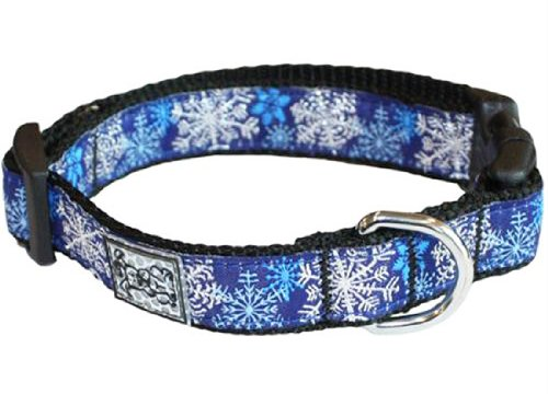 RC Pet Products 3/4-Inch Adjustable Dog Clip Collar, 9 to 13-Inch Width, Let it Snow, Small