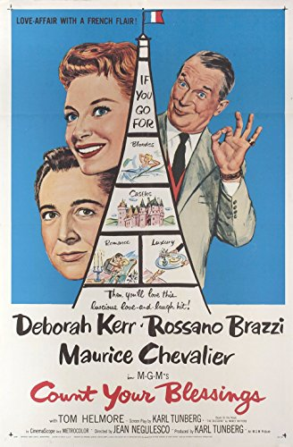 Count Your Blessings 1958 U.S. One Sheet Poster