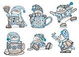 Design Works Cocoa Snowmen Plastic Canvas Ornaments, Multi-Color by Design Works