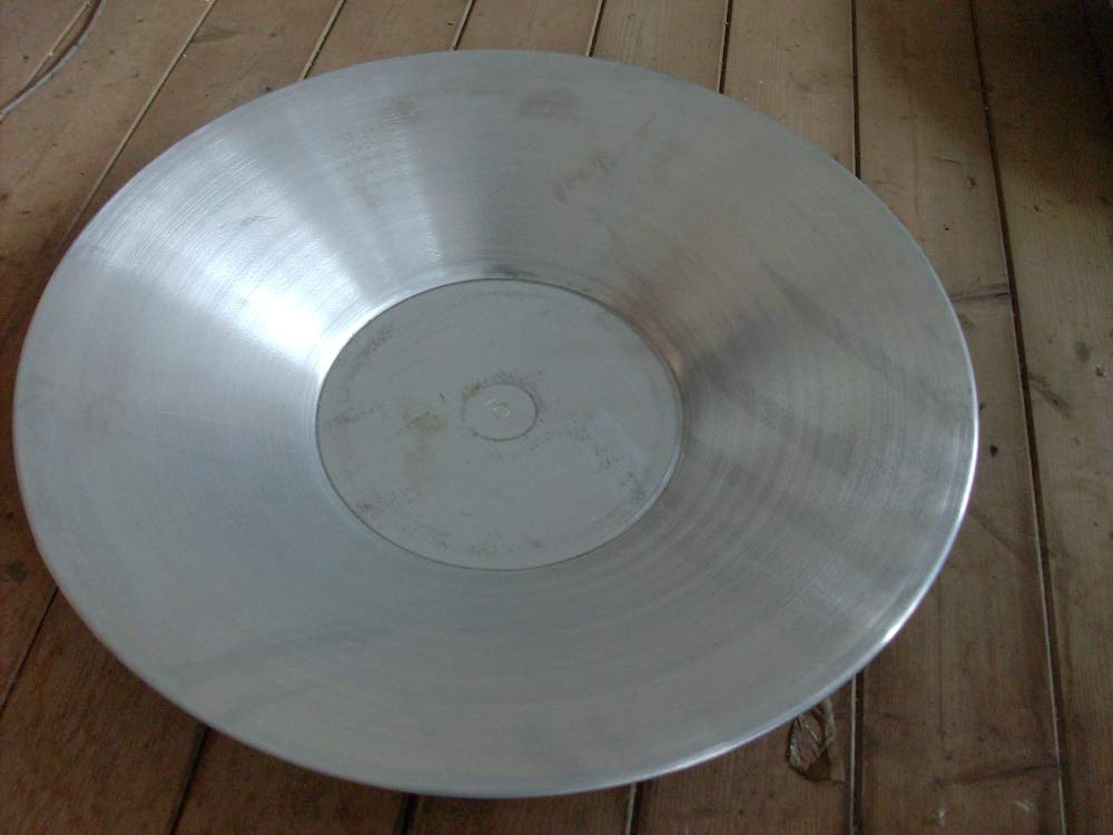 EllasDekokrempel Pflanzschale Dekoschale Zinkoptik 65cm Durchmesser