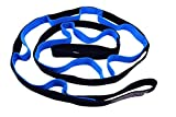 Stretch Strap by SunJolly - 10-Loop 79-inch Strap with Instructional Guide for Stretching, Athletes, Yoga, Physical Therapy Strap, Rehab, Dance-Workout Instruction Included
