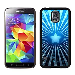 S5 Case,Blue Christmas Star Snowflakes TPU Black Case For Galaxy S5,Samsung Galaxy S5 I9600 Protective