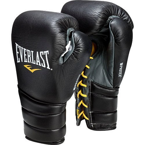 Everlast 280801 Protex3 Professional Fight Gloves Black 8 0Z