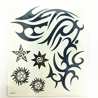 1 Pcs Waterproof Temporary Tattoo(24cm20.3cm)