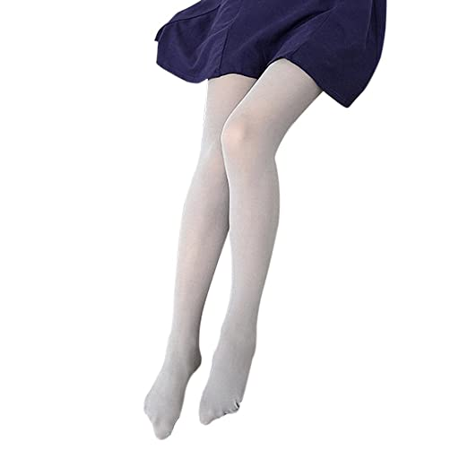 c84ff640f04a0 Blostirno Women's Pantyhose Tights Semi Sheer Semi Opaque (Grey 50D) at Amazon  Women's Clothing store: