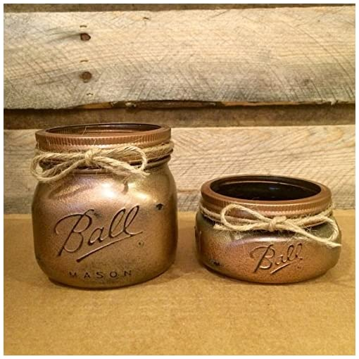 4 PIECE RUSTIC MASON JAR BATHROOM SET