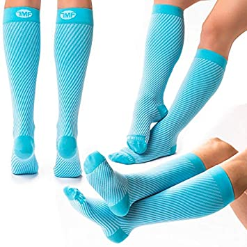 16d13edb59 3 Pack Bundle of Colorful Compression Socks for Women and Men, Support Socks  to Relieve