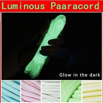100FT 30m Multifunction Nylon Paracord Parachute Cord Luminous Glow(Color Random)