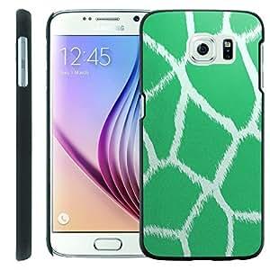 [ManiaGear] [GUARD] Design Graphic Image Shell Cover Hard Case (Teal Giraffe) for [Samsung Galaxy S6]