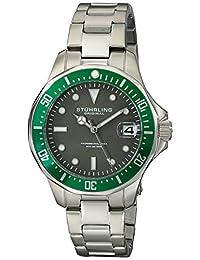 Stuhrling Original Men's 664.03 Aqua Diver Analog Display Japanese Quartz Silver Watch