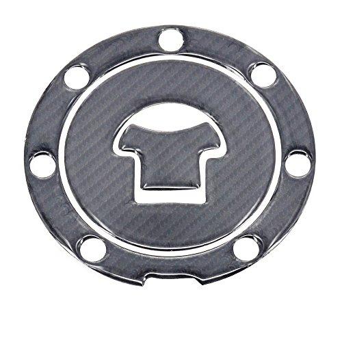Cbr600rr Carbon Fiber - JFG RACING Real Carbon Fiber Gas Cap Cover Pad Filler Cover Sticker Decal For For Honda CB600 CB750 CB900 80 81 82