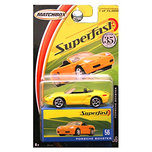 Matchbox 2004 Superfast 35th Anniversary Porsche Boxter Boxster in Yellow #56 (Matches 2004)