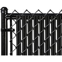 6ft Black Ridged Slats™ for Chain Link Fence
