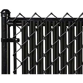 4ft black ridged slats for chain link fence - Chain Link Fence Slats