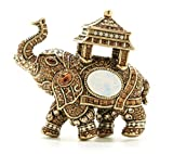 Heidi Daus Elephant-Design SWAROVSKI Crystal Lucky Pin ~ Exotic Wisdom