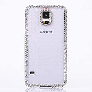 Diamond Bling Crystal Shinning Crown Perfume Bottle Case Cover For Samsung Galaxy S5 I9600 Black-Black