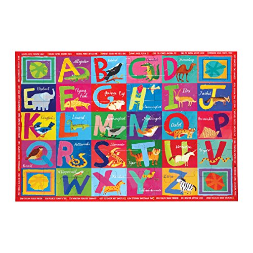 eeBoo Large Floor Puzzle for Kids, Alphabet ABC, 48 Pieces (3 x 2 feet)
