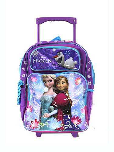 Purple and Blue Sisters Stick Together Disney Frozen Rolling Backpack