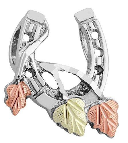 Sterling Silver Heart Slider (Pretty! Diamond-cut Black Hills Gold Sterling-Silver Horse Shoe)