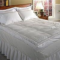 "Blue Ridge Home Fashion Luxury 5"" Down Pillowtop Featherbed, Cal King, White"