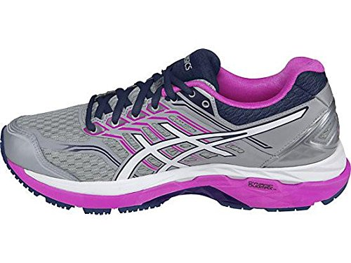 Picture of ASICS Women's GT-2000 5 Running Shoe, Mid Grey/White/Pink Glow, 7.5 2A US