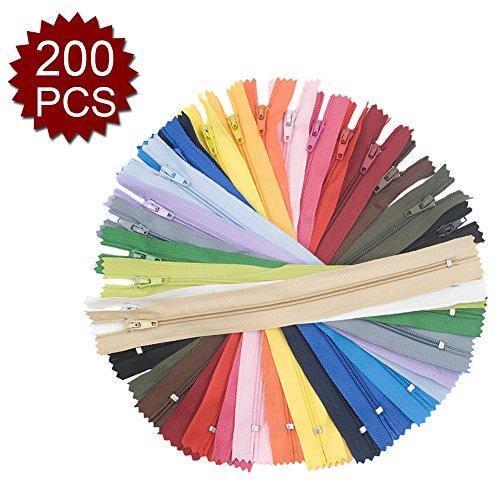 アスパイア200PCS 22.86cmナイロンコイルジッパークローズエンド 縫う工芸のための素晴らしい - 色込