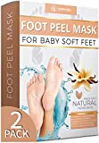 Vanilla Foot Peel Mask - 2 Pack - For Cracked
