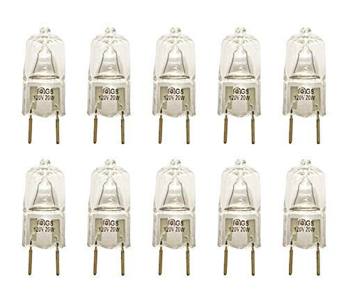 G8 Halogen Bulbs (VSTAR® G8 120V 20W Halogen Light Bulbs(10)