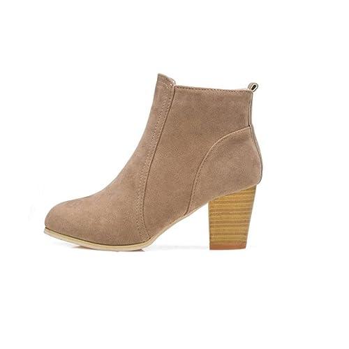 Zapatos de mujer Zapatos de mujer tacones altos Botines Mujer Martín Botas Señoras Moda Otoño invierno