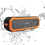 Archeer A226 Portable Bluetooth Speakers Outdoor Sport Shower Wireless Speaker with light, Clip, Microphone, Orange