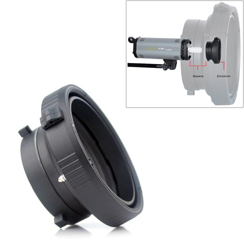 Fomito Photo Studio Bowens Mount to Elinchrom Speedring Converter Adapter Ring for Softbox Beauty Dish Studio Flash Strobe Professional Photography