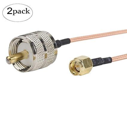 2pcs 12 inch/30 cm/30 cm RF coaxial coaxial cable Asamblea – SMA