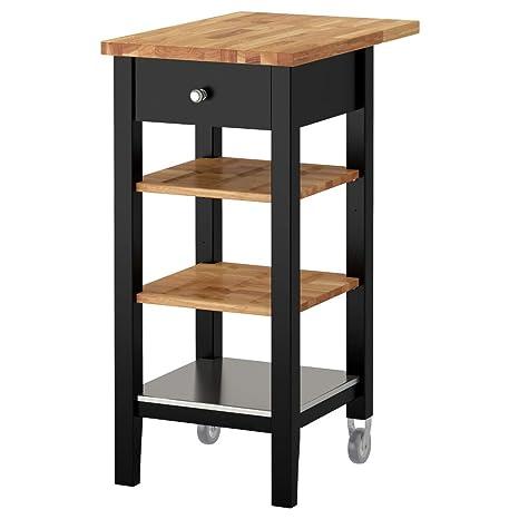 Amazon.com: IKEA ASIA STENSTORP Kitchen Trolley, Black-Brown ...