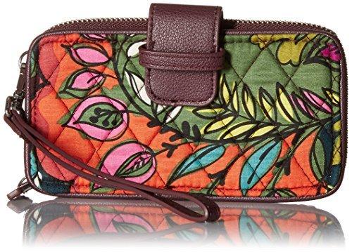 Vera Bradley Women's RFID Smartphone Wristlet Falling Flowers Handbag