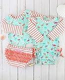RuffleButts Baby/Toddler Girls Flamingo Beach