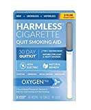 Harmless Quit Smoking Aid/Natural Quit Smoking Aid/Habit Replacement/Stop Smoking Craving Relief/Includes Free Support Guide to Help You Quit (Oxygen, 3 Pack)