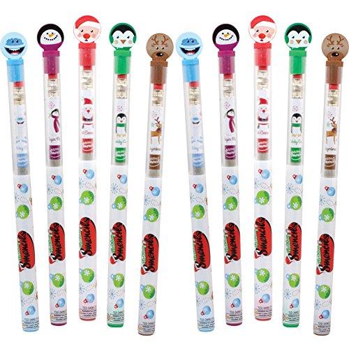 (Set/10) Christmas Smencils - Fun And Festive Holiday Scented No 2. Pencils