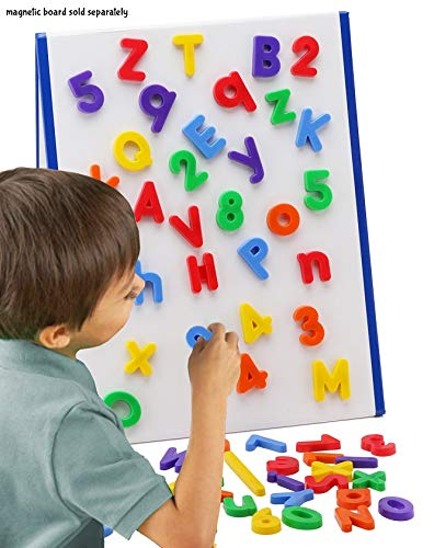 EduKid Toys ABC Magnets - 109 Magnetic Alphabet Letters & Numbers with Take Along Bucket by EduKid Toys (Image #3)
