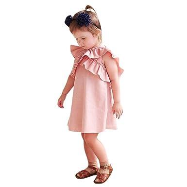 dc16e4e540aec Oyedens Fille 0 à 24 Mois Vetement Bebe Fille Robe De Princesse Fille Ailes  en Forme